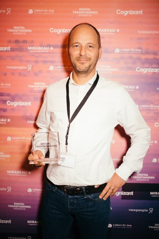 Hans Böhm van Beerwulf wint Digital Transformers Awards 2018